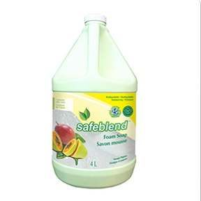 HFMP-G04 SAFEBLEND FOAM HAND SOAP MANGO PAPAYA 4 X 4L