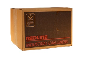 GLNBSD2022 REDLINE 20 X 22 REGULAR GARBAGE BAGS BLACK 500/CS UNI301400144 EDL
