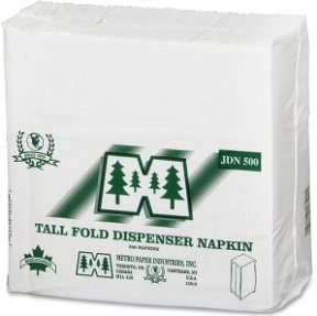 103002 PEACOCK-PUR VALUE JR. DISPENSER NAPKINS, 18PKX500/CS PE735