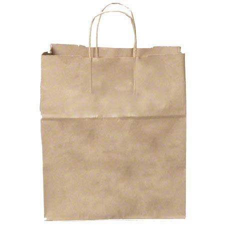 "KRAFT PAPER BAG WITH HANDLE 13"" X 7"" X 17"" 250/BUNDLE"